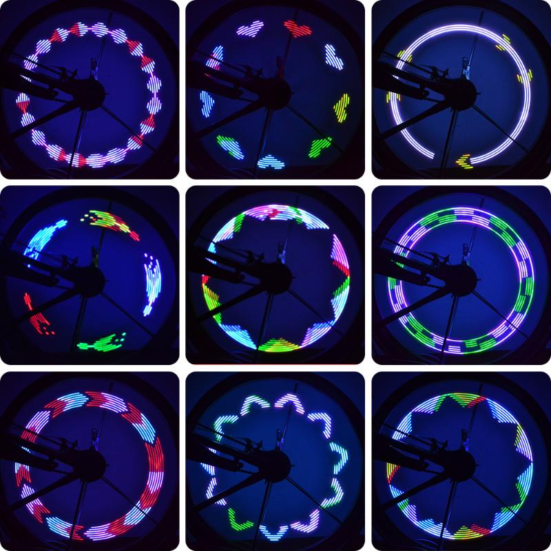 7 LED Motorcycle Bike Wheel Signal Tire Spoke Lights 8 Changes Waterproof Bike Accessories Cycling Light Fixed on Bicycle Spoke