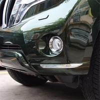 Automobile Car Covers Accessories Chromium Styling 2010 16 TRIM Overbearing FRONT BUMPER Bar Modification FOR Toyota