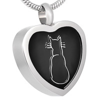Ijd9137 Women Stainless Steel Classic Design Pet Cat Look Cremation Jewelry In Pendant Necklace Hot Selling