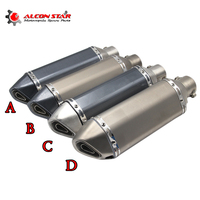 Universal Modified Akrapovic Motorcycle Exhaust Muffler With DB Killer Dirt Street Bike Scooter ATV Exhaust Muffler
