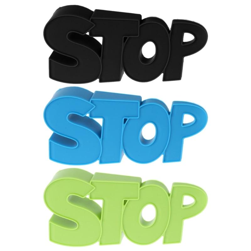 1 Stück Silikon Gel Tür Stucker Tür Stucker Sicher Stoppen Buchstaben Modellierung Kinder Silikon Wind Boden Schützen 12x5,5x2,5 Cm Ein Unbestimmt Neues Erscheinungsbild GewäHrleisten