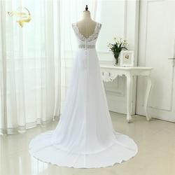 2019 Chinese Hand Made Beading Wedding Dress Chiffon Low Back Sexy Applique Lace Beach Vestidos De Novia Robe De Mariage JL0097 2