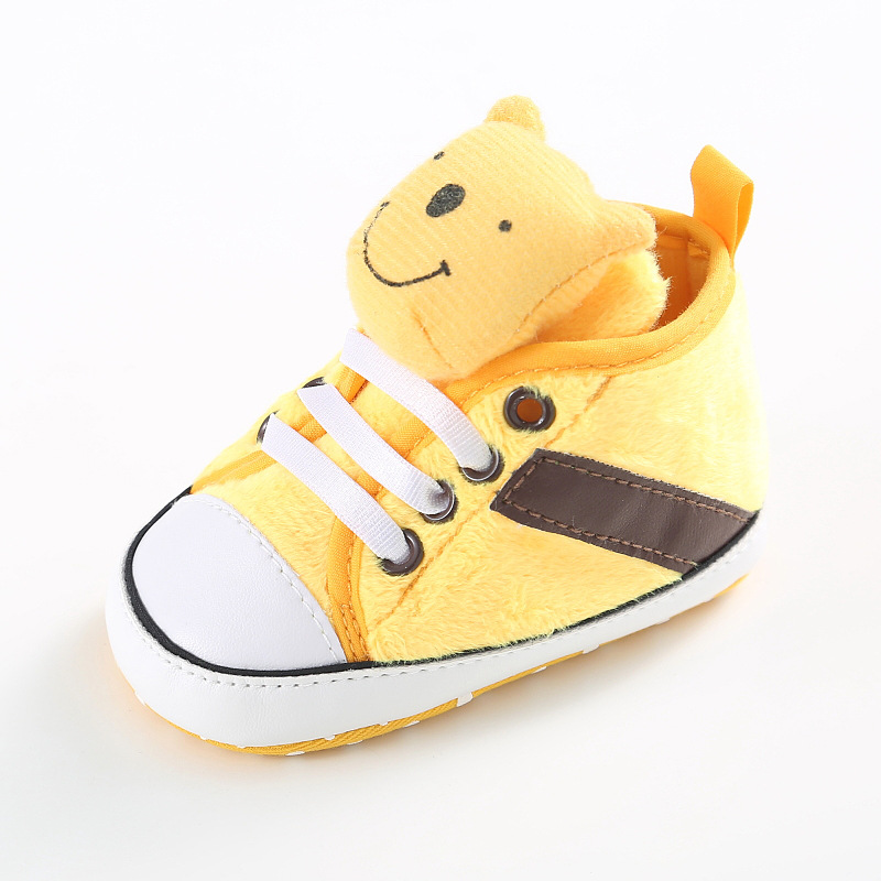 Fashion Baby Boy Girl In The Tube Cotton Casual Slip Belt Cartoon Winnie The Bear Casual Shoes Fashion Toddler Baby Toddler Shoe