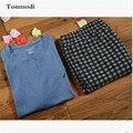 Пижамы Для Мужчин Летом Пижамы С Коротким рукавом пуловер Брюки Lounge Пижамы Установить