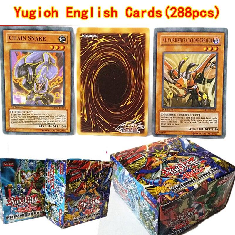 288 pièces/ensemble Anime japon Yu Gi Oh cartes de jeu à collectionner jouets pour garçons filles pour Collection avec boîte cadeau de noël