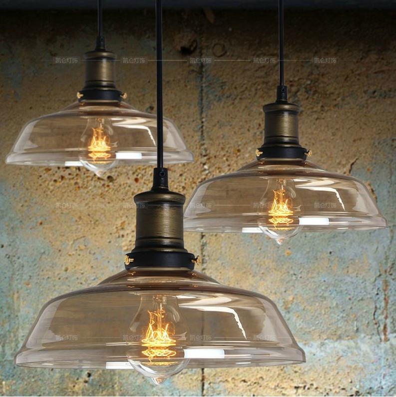 Suspension Luminaire Cuisine: Vintage Industrial Glass Chandelier Modern Minimalist