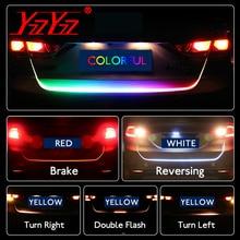 Автомобильный светодио дный Стайлинг RGB LED багажник багажная полоса светодио дный ходовая карета плавающая динамическая стример Поворотная сигнальная лампа дополнительный стоп-сигнал