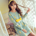 Low Price 2017 Fashion Autumn Springr Women Nightwear Dress Velvet Long Sleeve Cotton Lovely Nightgown Long Nightgown Sleepwear