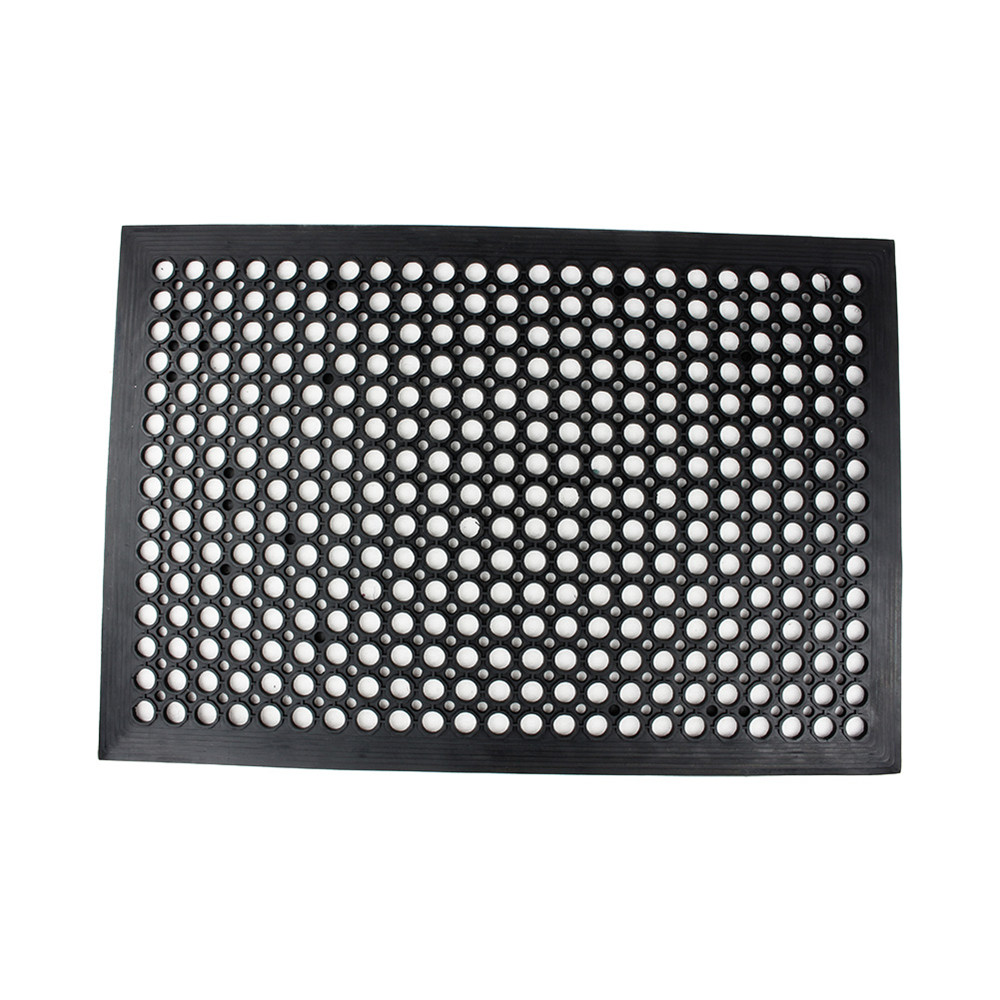 Rubber floor mats bathroom - 1pc Rubber Floor Mat Industrial Entrance Flooring Heavy Duty Anti Fatigue Non Slip Black 610