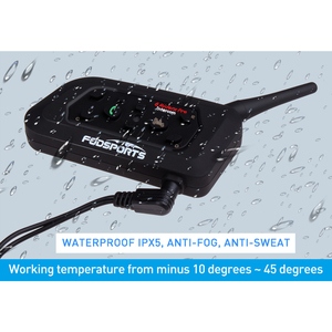 Image 4 - Fodsports V6 Moto kask interkom kulaklıklar Max 1200M motosiklet kablosuz Bluetooth interkom Intercomunication