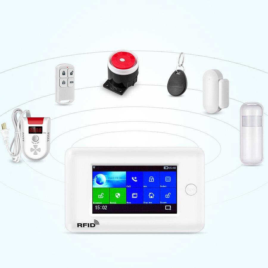 Image 4 - Fuers wifi умная домашняя система охранной сигнализации 3g противоугонная система 4,3 дюймов цветной экран приложение дистанционное управление PIR датчик движения-in Комплекты для системы сигнализации from Безопасность и защита