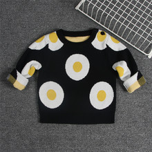 Campure Kids-pullover Baby Toddler Autumn Winter Girls Sweater Cardigan Chompas Knitted Sweater 1-6 Years Drop Shipping