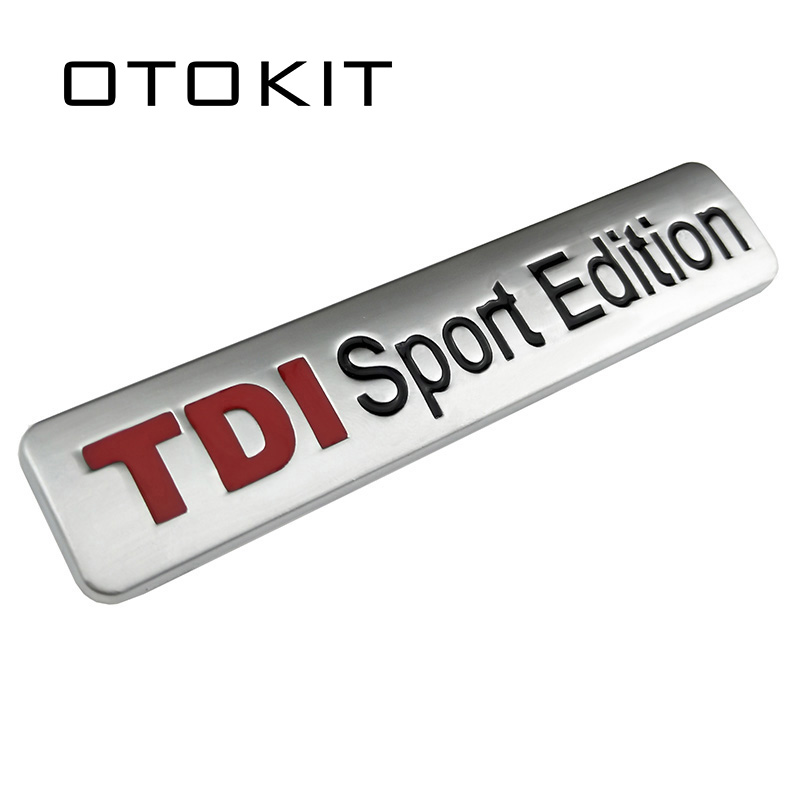 Metal Red TDI Sport Edition Logo Turbo Car Letter Sticker Emblem Chrome Badge Decals for VW POLO GOLF CC TT JETTA GTI TOUAREG metal hood latch lock catch for vw jetta golf gti mk4 gl glx tdi