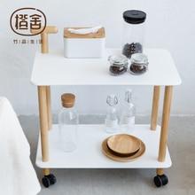 Кухонная Тележка, бамбуковый журнальный столик на колесиках, держатель для хранения, универсальная полка, витрина, мебель для дома, ZEN'S Bamboo