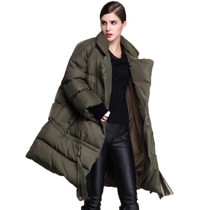 2018 New Ceciliayu Big Code   Down   Clothing Women's New Thickened White Duck   Down     Coat   Autumn Winter Long And Thick   Down   Jacket