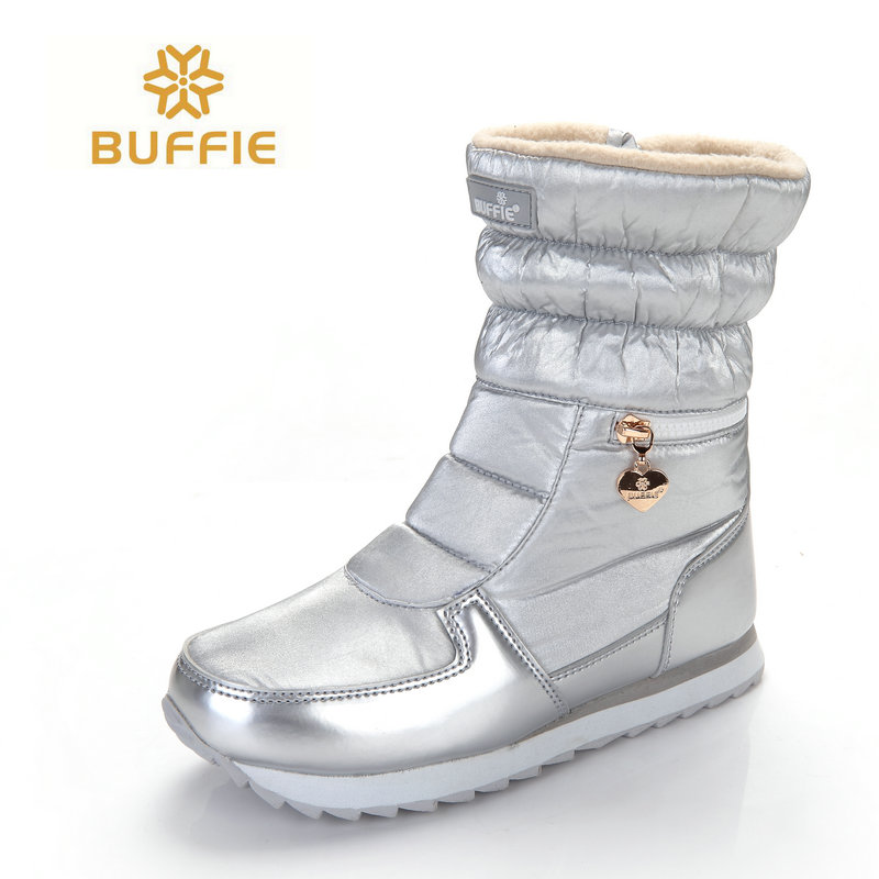 2017 New style women font b boots b font fashion silver winter font b boots b