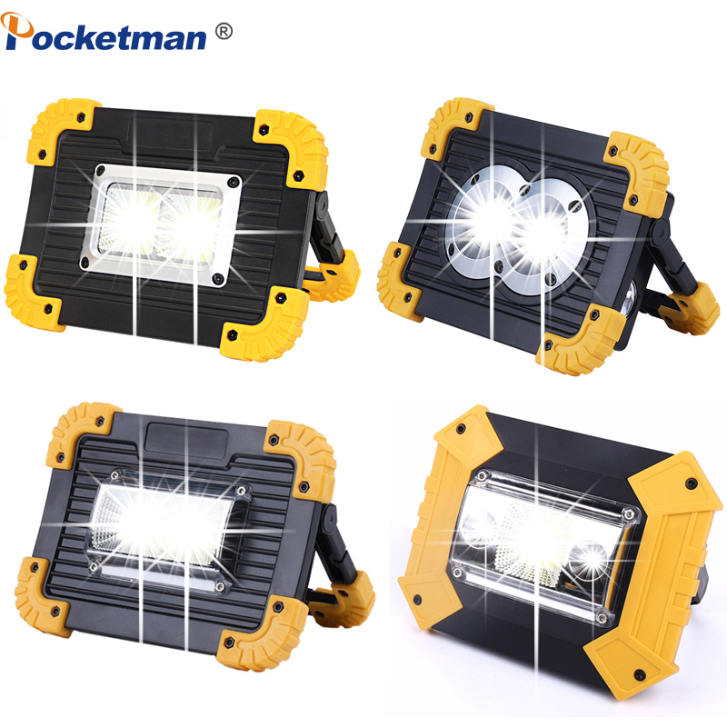 100W Led Work Light 10000lm Super Bright Portable Spotlight Rechargeable For Outdoor Camping Lampe Led Flashlight By 18650