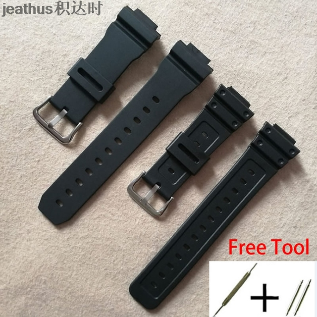 Jeathus watchband for casio G-shock GW-M5610 DW-6900 GW-M5600 DW-5600 G5700 Rubb