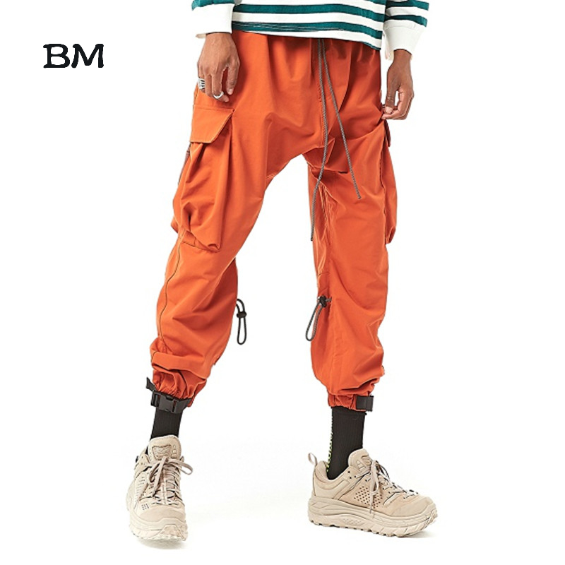 streetwear sweatpants hip hop joggers men korean style harem pants fashions kpop black modis pants techwear 2019 japanese
