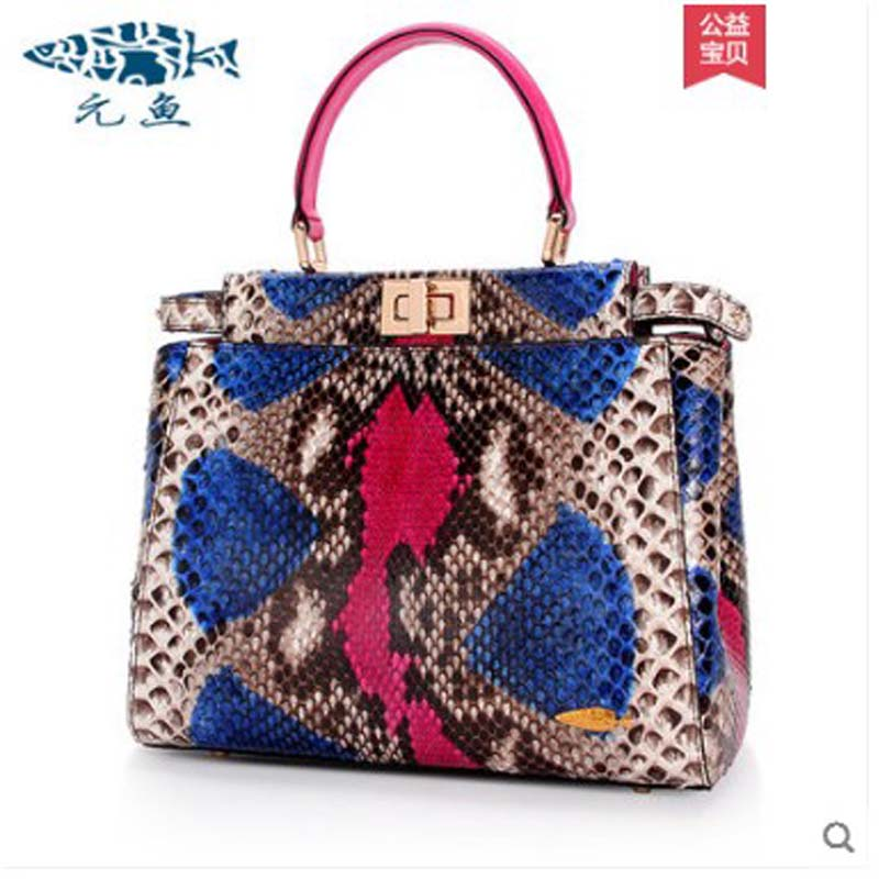 yuanyu New python leather handbag with snake pattern single shoulder bag large capacity simple women handbagyuanyu New python leather handbag with snake pattern single shoulder bag large capacity simple women handbag
