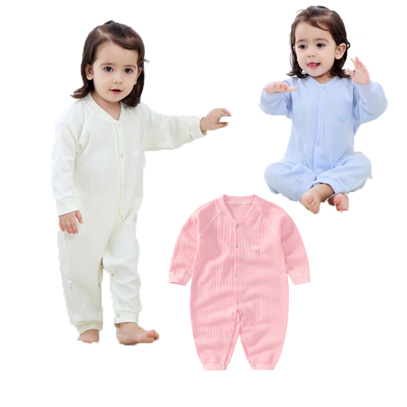 Baby Rompers Spring Baby Girl Clothes Solid Baby Boy Clothing Sets Long Sleeve Infant Jumpsuits Roupas Bebe Newborn Baby Clothes