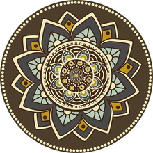 Persian Mandala Flowers Round Carpets For Living Room Computer Chair Area Rug Children Play Floor Mat Cloakroom Rugs And