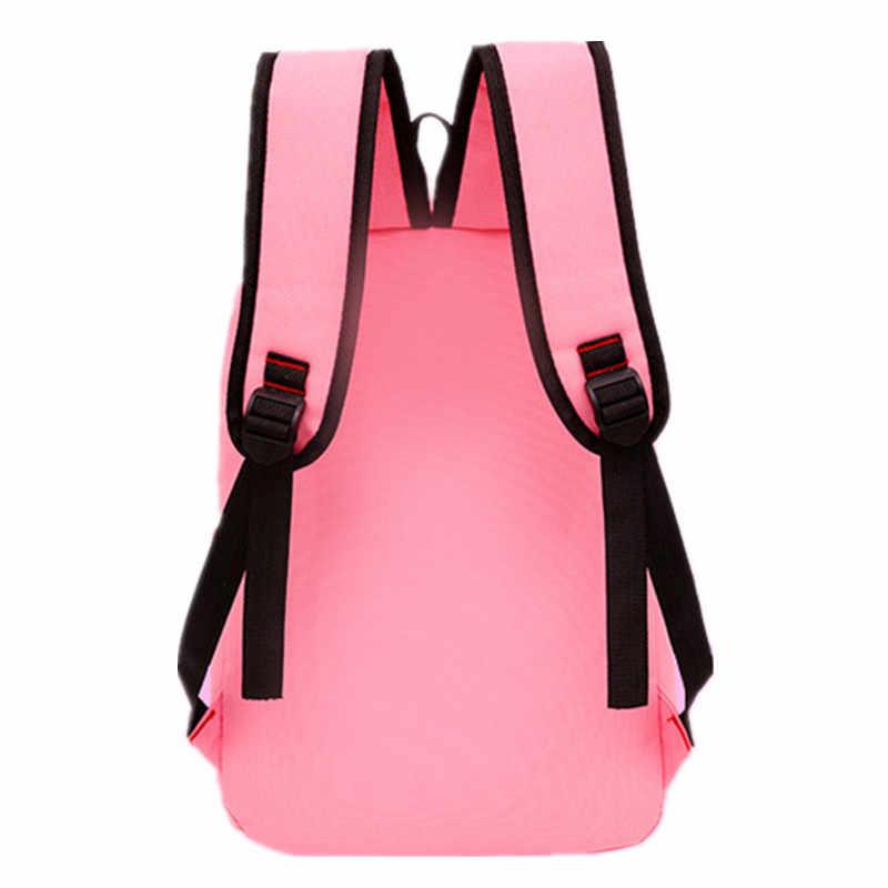 4 sztuk/zestaw kobiety plecak nadruk z kotem płótno szkolne torby dla nastolatków dziewczyny styl Preppy plecak książka dla dzieci torba Mochila Feminina