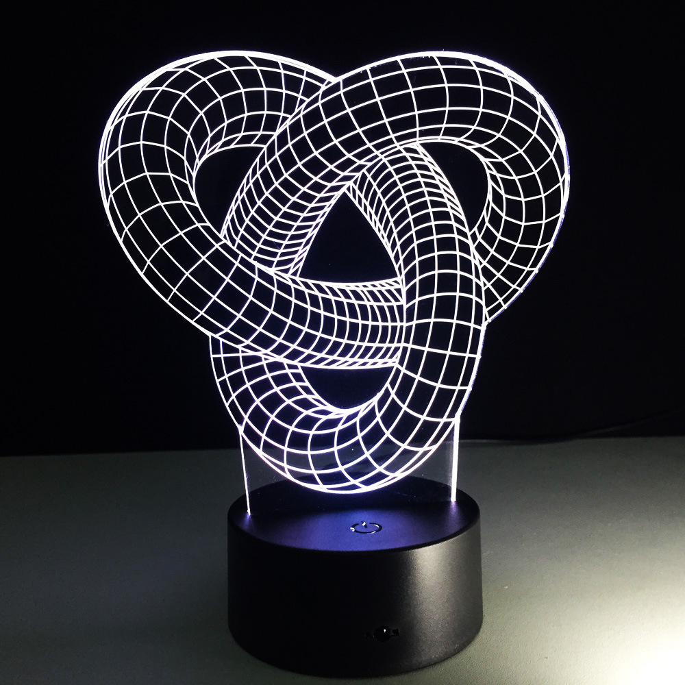 Image 4 - Abstract Circle Spiral Bulbing 3D LED Light Hologram Illusions 7 Colors Change Decor Lamp Best Night Light Gift For Home Deco-in LED Night Lights from Lights & Lighting