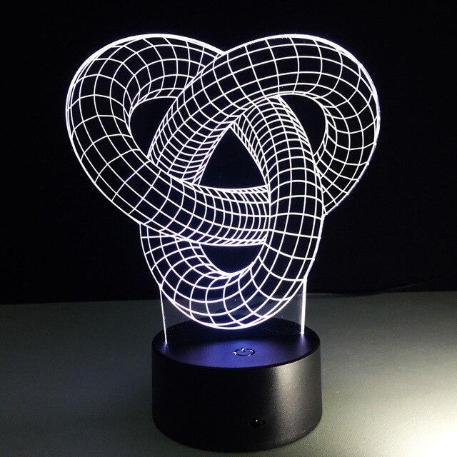 Abstract Circle Spiral 3D LED Light 8