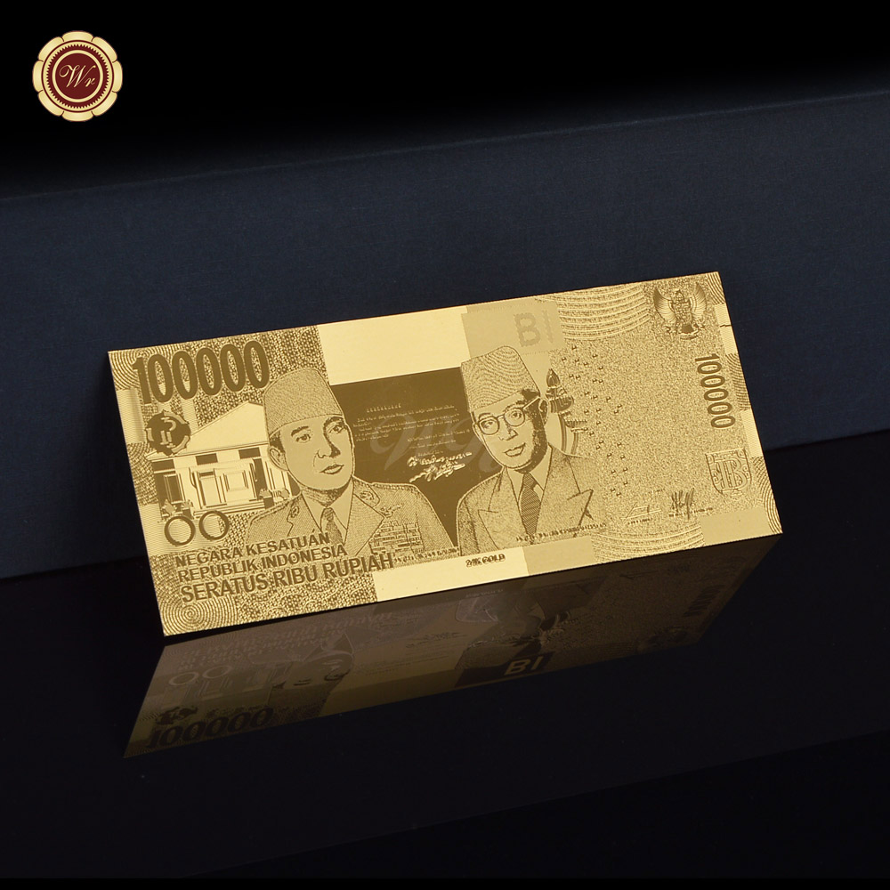 Normal Gold Banknote Indonesian Gifts Beautiful Collection And Business Gift