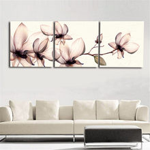 3 Piece Modern Wall Canvas Printing Orchid Flower Home Decorative Home Art Picture Paint On Canvas(No Frame)(China)
