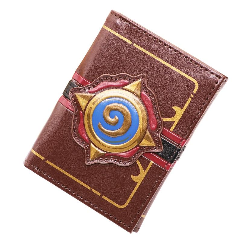 Тисненая кожа герой Warcraft плита короткий бумажник человек Игра три складной бумажник