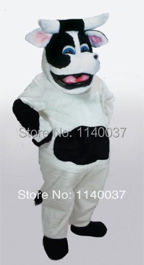 Mascotas Leche Vaca Bessie Mascotas Traje Adulto Tamano De
