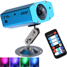 Remote 3W RGB LED Water Wave Ripple Effect Stage Light lighting Laser Projector with Mini Tripod for Party Show