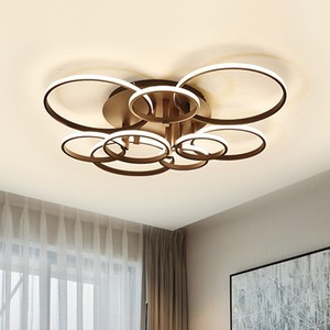 Image 2 - Modern LED Chandelier Home Lights For Living Room Ceiling Fixtures Black White Lamp With Remote Control Bedroom Lighting Luster