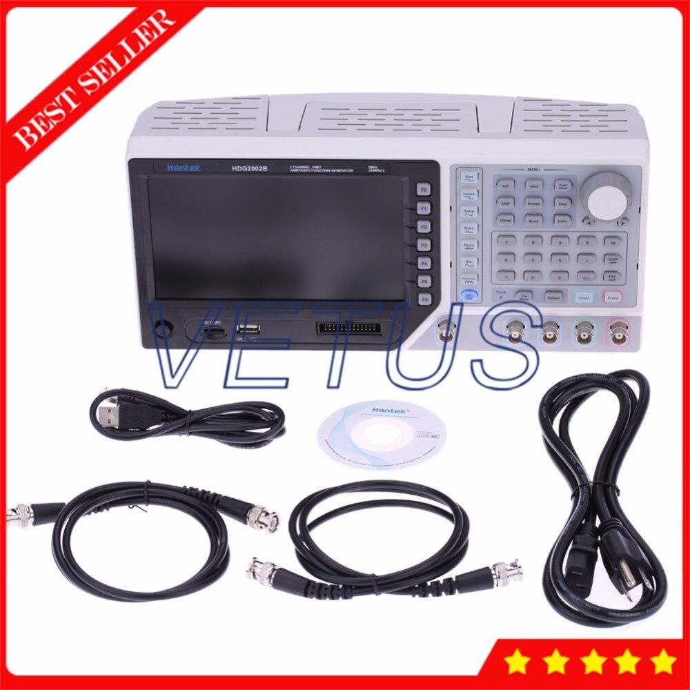 Hantek HDG2002B 2 canaux 5 MHz 250MSa/s générateur de Signal DDS avec Interface USB de générateur de fonction de forme d'onde arbitraire