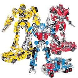 DIY Gemonteerd Robot Model Auto Metalen Blokken set, Robot of Auto STEEL Bouw Blokken Speeltoestel Educatief Speelgoed voor Kinderen
