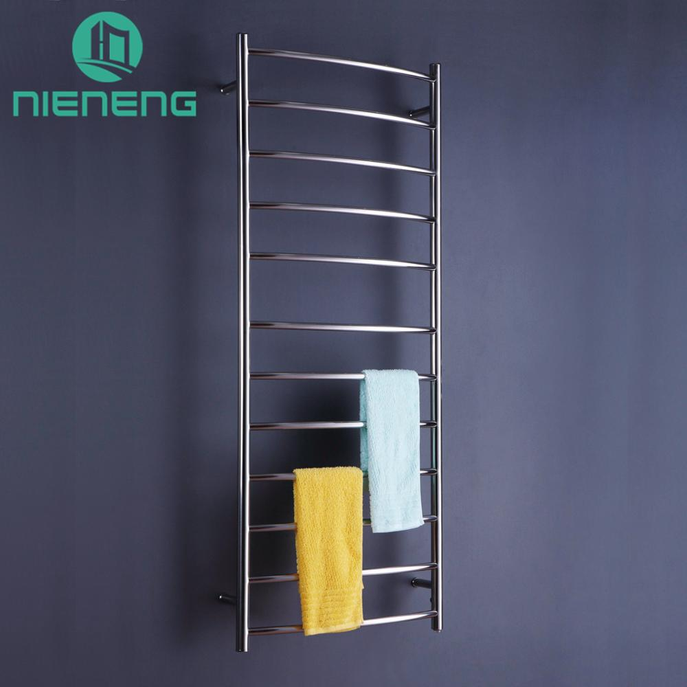 Nieneng Electric Towel Holder Heating Towel Racks Bathroom Appliance Luxury Brand 304 Stainless Steel Heated Towel Rail ICD60603 220v 95x110mm 50 250w pet ceramic emitter heated plate appliance reptile poultry heating breeding light bulb for e27 lamp holder