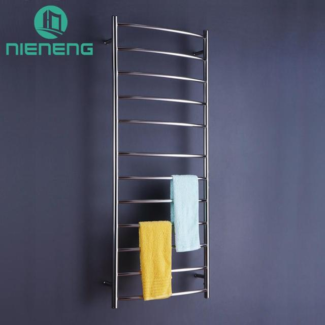 US 575 0 Nieneng Electric Towel Holder Heating Towel Racks Bathroom Appliance Luxury Brand 304 Stainless Steel Heated Towel Rail ICD60603 In Towel