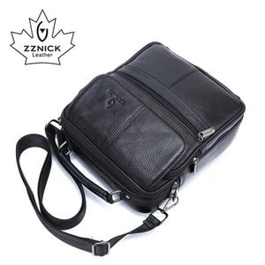 Image 5 - ZZNICK 2018 ของแท้ Cowhide หนังกระเป๋าสะพาย Messenger กระเป๋าผู้ชาย Crossbody กระเป๋ากระเป๋าถือกระเป๋าแฟชั่นผู้ชายใหม่