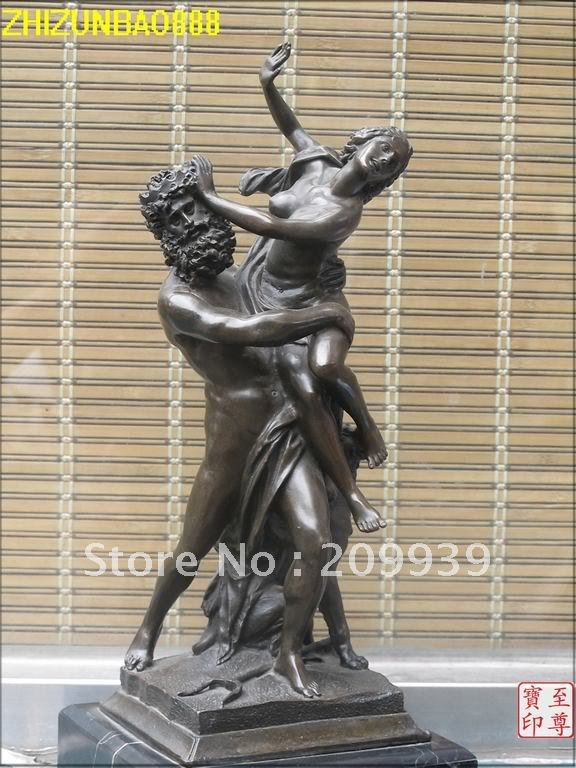 Greece myths bronze marble art statue poseidon nude amphitrite 3 head dog on - Poseidon statue greece ...