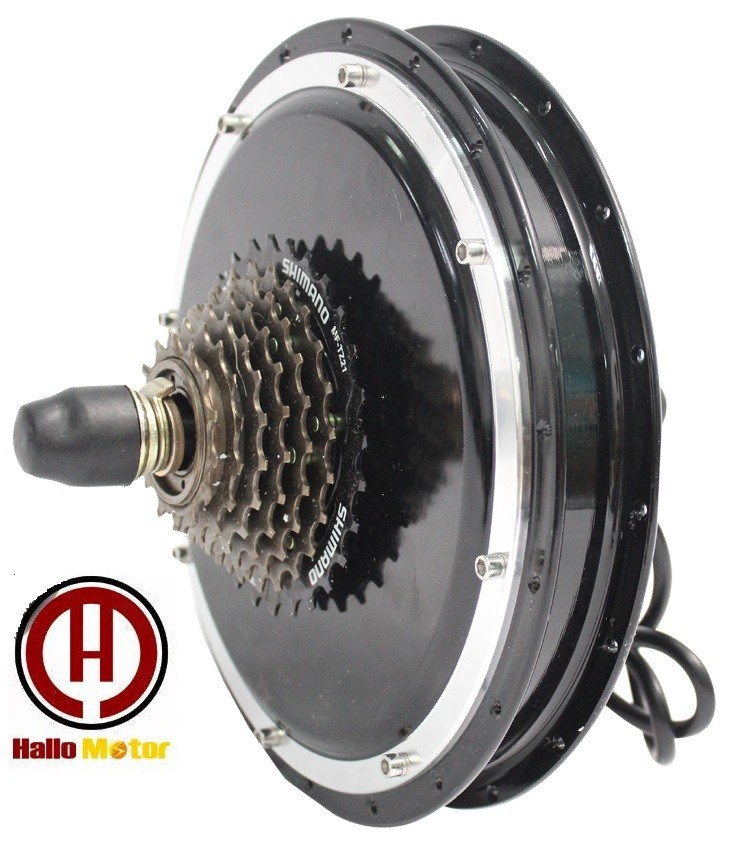 RisunMotor Black Electric Bicycle 36V 48V 1200W Brushless Gearless Hub Motor Driving For Cycling With 7-Speed eBike Rear Wheel sale free tax conhismotor 36v 1200w 48v 1500w 26 rear wheel ebike conversion kits for electric bicycle eu free shipping