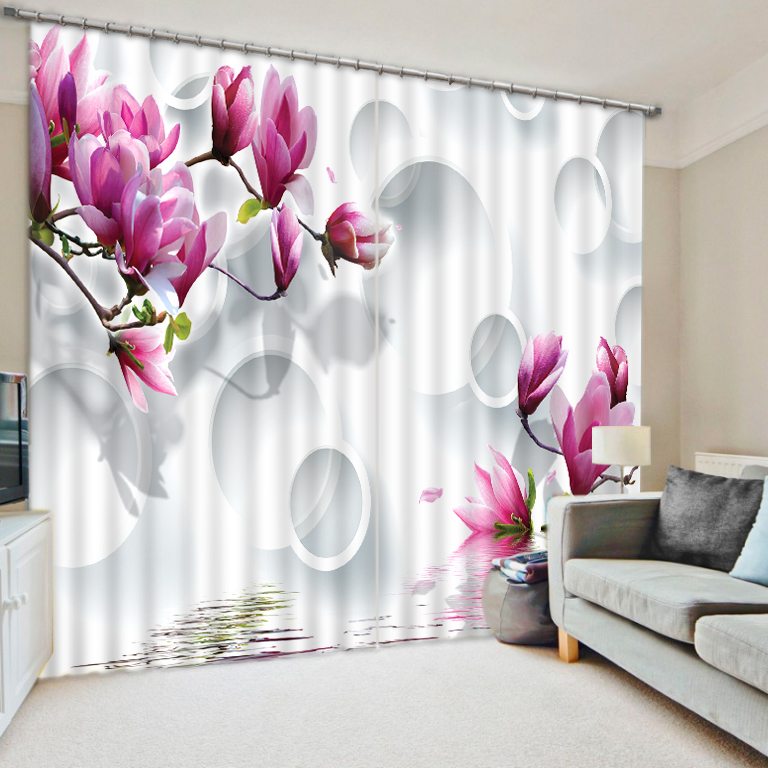 Beautiful Sheer Curtains Blackout 3D Curtain For Living Room Bedroom Flower Window Treatments Shade Cortinas Drapes