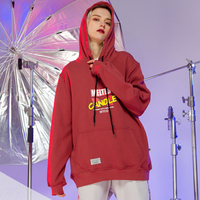 Spring Fashion Letter Print Hoodies Women Clothes 2019 New Arrival BF Style Couple Hoodies Loose Crop Top Korean Sweatshirt