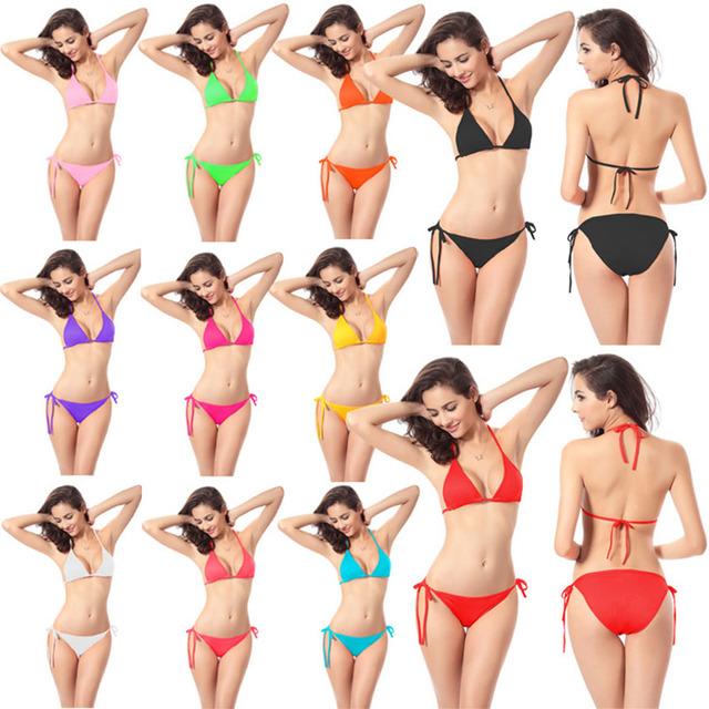 Bikini Set Push-up Unpadded Bra Swimsuit Swimwear