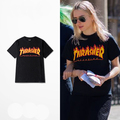 XXXL 2016 ZICO RIHANNA Magazine Flame Logo T-Shirt flame TEE short sleeved men and women