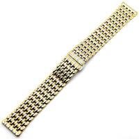 20mm Uhrenarmband für Stunden Silber und Goldene Edelstahl Band für Uhr reloj de pulsera GD015520