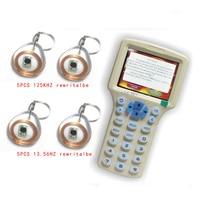 Updated Version Handheld 125KHz 13 56MHZ RFID Copier Writer Duplicator With English Encryption Software 30pcs Writable