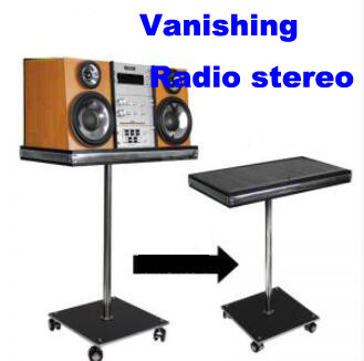 Vanishing Radio Stereo Magic Tricks For Professional Magician Stage Illusion Mentalism Gimmick Props light heavy box remote control magic tricks stage gimmick props comdy illusions accessories mentalism