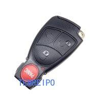 3 + 1 Пуговицы Автозапуск Smart Key случае В виде ракушки крышка пустой лезвие ляторной держатель для Mercedes-Benz